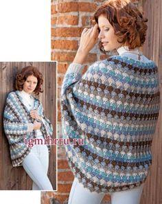 Crochet jacket — Crochet by Yana Gilet Crochet, Crochet Shrug Pattern, Crochet Coat, Crochet Jacket, Crochet Cardigan, Crochet Scarves, Crochet Shawl, Crochet Clothes, Free Crochet