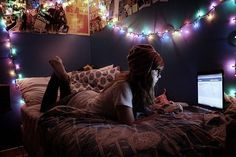 fairy lights room tumblr - Google Search
