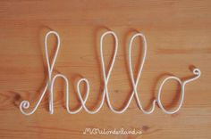 big white hello sign rope word modern decoration by MCWonderland