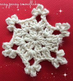 Easy Peasy Snowflake - Free Pattern