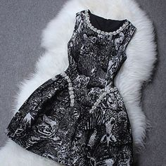 Cool! Beaded Round Collar Flocking Animal Dress just $85.99 from ByGoods.com! I can't wait to get it!