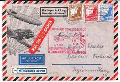 """Katapultpost Brief nach Berlin vom 1.6.35. Dampfer """"Bremen""""    Dealer  PPH Asbit    Auction  Minimum Bid:  40.00EUR"""