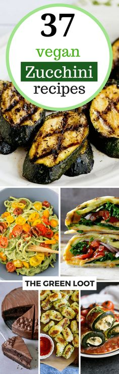 These Vegan Zucchini Recipes are great if you would like to make a healthy dinner or lunch. You can make your zucchini stuffed, grilled, into casserole, patties or meatballs. A filling, veggie-packed meal will provide you with plenty nutrition and fiber. Most of these recipes are kid-friendly, too! | The Green Loot #vegan