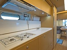 Gypsy Living Traveling In Style  Serafini Amelia  A Gypsy Travels  Travel Trailer  Airstream Landyacht: Kitchen Surface Area - Take the 2014 RV Tour on HGTV