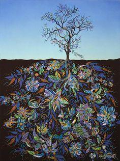 "My Modern Met: Saatchi Art Artist Erika Pochybova-Johnson; Painting, ""Blue Afternoon "" #art"
