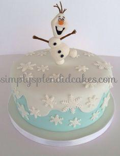 Disney Frozen Olaf cake. Simply Splendid Cakes & Treats www.simplysplendidcakes.com