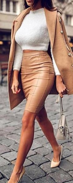 Trends Winter Outfit For Women Looks Beautiful - Part To Remember Winter Dress Outfits, Cute Fall Outfits, Winter Fashion Outfits, Skirt Outfits, Classy Outfits, Beautiful Outfits, Spring Outfits, Trendy Outfits, Autumn Fashion