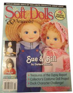 SOFT DOLLS & ANIMALS Magazine July 2012 by michelledolls on Etsy, $6.00