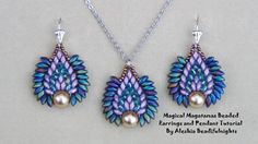 Tutorial: Magical Magatamas Beaded Earrings and Pendant | [.'64'..+Playlist.]