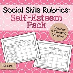 These #freebie rubrics were designed to help counselors, teachers, social workers, or SLPs keep track of a student's progress on #self-esteem goals. The set includes 5 rubrics in both a teacher and student version (for a total of 10 rubrics. Presented in PDF format!