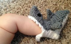 INFANT Crochet Shark Slipper Socks Grey//Pink//Blue FREE SHIPPING on Etsy, $27.00