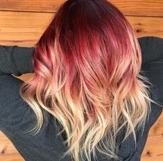 Violet Hair Colors, Hair Color Purple, Blonde Color, Color Red, Guy Tang, Ombre Rose Gold, Red Ombre Hair, Blonde Hair Red Roots, Ombre Highlights