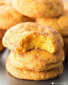 Pumpkin Snickerdoodle Cookies   Center Cut Cook
