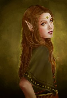 "Elves Faeries Gnomes:  #Elf ~ ""Mealla,"" by tsukichan13, at deviantART."