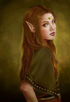 "Elves Faeries Gnomes: #Elf ~ ""Mealla,"" by tsukichan13, at deviantART."