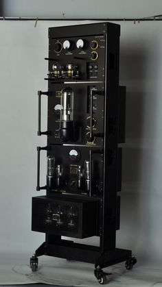 The Line Magnetic Vacuum Tube Mono (you need 2) Amplifier. Looks like something from Thomas Edison's lab. Would love to hear this and see it in action. $26,500
