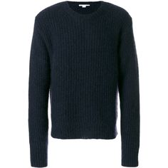 Stella McCartney ribbed jumper (51.555 RUB) ❤ liked on Polyvore featuring men's fashion, men's clothing, men's sweaters, blue, mens ribbed sweater and mens blue sweater
