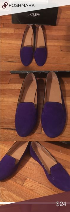 FINAL PRICE DROP J CREW PURPLE FLATS Size 7.5 but fits like a 7. Some scuffing but still very beautiful J Crew Shoes