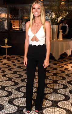 "Gwyneth Paltrow wears a David Koma jumpsuit at the Goop x Cadillac ""Road to Table"" dinner in N.Y.C."