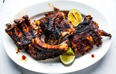 This gochujang rub is great on ribs, but would also work on a pork shoulder before braising, or bone-in pieces of chicken.
