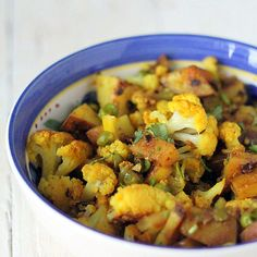 aloo gobi   mutter vegan indian