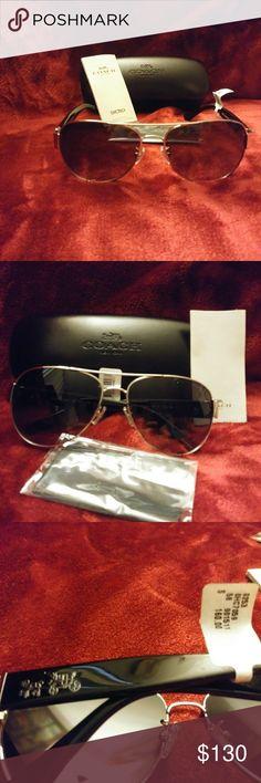 Coach sunglasses Brand new, 100% authentic pair of coach aviator sunglasses Coach Accessories Sunglasses