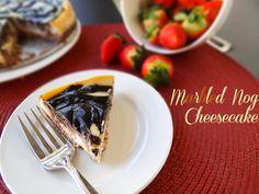 Marbled Nog Cheesecake #vegan #recipe via @lawfullyww
