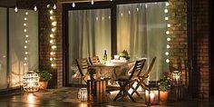 Chic Ideas for The Outdoor Room! This is How Terrace Design Succeeds Best Outdoor Lighting, Balcony Lighting, Lighting Ideas, Terrasse Design, Patio Design, Living Room Trends, Living Spaces, Outdoor Rooms, Outdoor Living