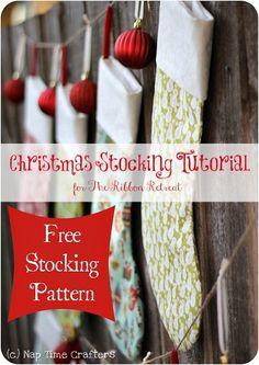 Christmas Stocking Tutorial and Pattern - The Ribbon Retreat Blog