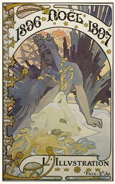 L'illustration 'Noel' cover by Alphonse Mucha, 1896 | Alphonse Mucha Estate ©
