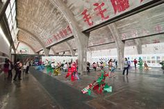 See the 20 Hottest Art World Hangouts of 2014 -  798 Art District, Beijing, China.
