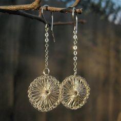Dewdrop Silver Crochet Earrings -- My SilverNest on Etsy, $29
