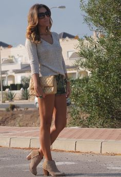 Zara  Sweaters, Pull    Bear  Shorts and Chanel  Bags