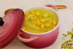 Crema de apio y maíz http://www.mireiagimeno.com/recetas/crema-de-apio-y-maiz