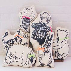 pooh bear, Winnie the pooh, piglet, Tigger, Eeyore, Winne the pooh pillow, pillow, kids pillows, pooh bear pillow, nursery