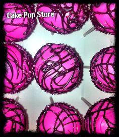 Hot pink cake pops
