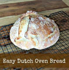 Easy Dutch Oven Bread Recipe #bread #recipe