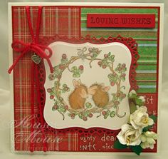 house mouse, Hmfmc, house mouse designs, plaids, winter, Christmas, holidays, card