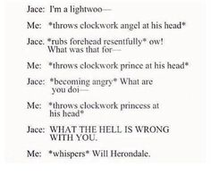 This was me every time Jase called himself a Lightwood