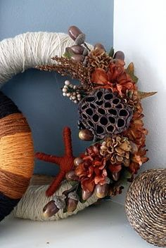 Project 12: Wrapped Yarn Fall Wreath (DIY for Busy Gals)