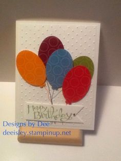 Happy Birthday Balloons Dee Isley Custom Designed Cards