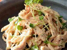 蒸し鶏とかいわれのサラダ*明太マヨわさびの画像