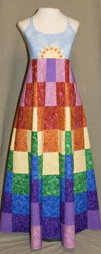 Marshamellow.com ~ Rainbow Patchwork Dress