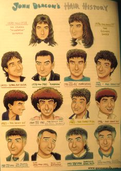 John Deacon's hair history - I think I have this in an old fan club mag from the 90's . . .