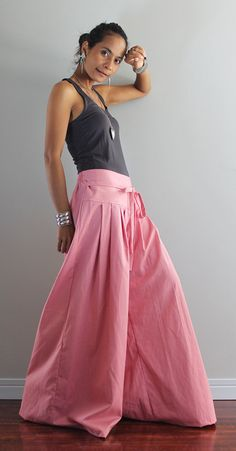 Pink Wide Leg Pants: Soul of the Orient Collection   Etsy