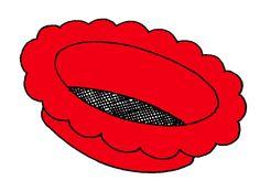 Rode zeef van kleurenspel