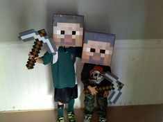Minecraft Party Ideas using Cardboard Boxes!