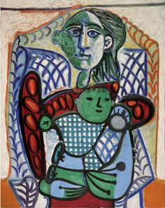 By Pablo Picasso, 1948, Maternité (Maternity),  Oil on canvas, Private Collection.