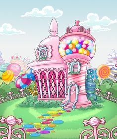 Adorable candy palace! <3 cilyconcar on DA.