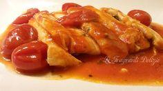 #Filetti di #pesce spatola alla #pizzaiola #RicetteBloggerRiunite